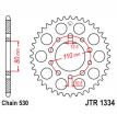 1334.41, Звезда задняя (ведомая),(сталь) JT 1334.41