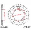 487.46, Звезда задняя (ведомая),(сталь) JT 487.46