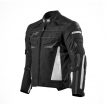 M01533 (черный/белый, S), Куртка текстильная  MOTEQ CLYDE, мужской(ие), размер S, цвет черный