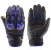 M02301 (Черный/Синий, XS), Кожаные перчатки Stinger синие