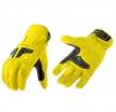 M02306 (Жёлтый/Чёрный, S), Туристические кожаные перчатки Venus флуоресцентно-желтые