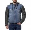 M08503 (Синий/Чёрный, M), Куртка мужская джинсовая Groot
