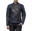M08518 (Черный/Синий, XXS), Кожаная женская куртка Teacher Jeans