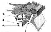 H0C74T, Крепление для верхнего кофра shad на honda cb 750 - 92/03