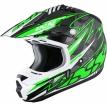 X12031-371-L, Шлем кроссовый HX 261 THUNDER зеленый, размер L, цвет зеленый