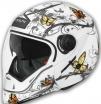 Шлем VEGA HD190 Butterfly белый глянцевый