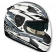Шлем VEGA HD188 Techno серый/бел. глянцевый