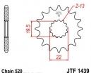 1439.13, Звезда передняя (ведущая) jtf1439 для мотоцикла, стальная