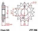 296.15, Звезда передняя (ведущая) jtf296 для мотоцикла, стальная