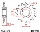 297.14, Звезда передняя (ведущая) JTF297 для мотоцикла, стальная