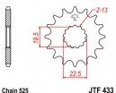 433.14, Звезда передняя (ведущая) jtf433 для мотоцикла, стальная