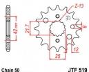 519.15, Звезда передняя (ведущая) jtf519 для мотоцикла, стальная