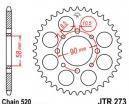273.45, Звезда задняя (ведомая) jtr273 для мотоцикла стальная