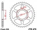 478.38, Звезда задняя (ведомая) jtr478 для мотоцикла стальная