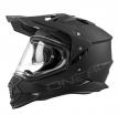 0817-50 (без пинлока), Шлем кроссовый со стеклом O'NEAL Sierra FLAT , мат., размер L, цвет черный