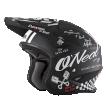0806-20 (черный/белый, S), Шлем открытый O'NEAL SLAT TORMENT, мат., размер S, цвет черный