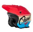 0806-70 (Красный/синий, S), Шлем открытый O'NEAL SLAT VX1, мат., размер S, цвет красный
