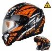 260-E10174, Снегоходный шлем модуляр с электростеклом MODE1 Tornado оранжевый матовый, размер L, цвет оранжевый матовый