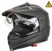 DSE1 (стекло с электроподогревом, Термопластик, мат., Черный, M), Снегоходный шлем с электростеклом DSE1 черный матовый, размер M, цвет черный матовый