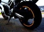319-960, Наклейка на колесный диск GP-Style неон-оранжевый, цвет Оранжевый