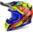 AV22DB17-L, Шлем кроссовый Aviator 2.2 Double, размер L, цвет желто-синий