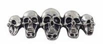 HH01-321, Декоративная металическая наклейка-значок  skull in line