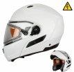 MODE1 (белый, M), Шлем снегоходный XTR MODE1, стекло с электроподогревом, размер M, цвет белый