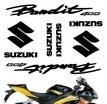 """decals_bandit_red, Комплект наклеек """"suzuki bandit 400"""" red"""