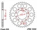 1332.44, Звезда задняя (ведомая) JTR1332 для мотоцикла стальная