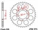 273.44, Звезда задняя (ведомая) JTR273 для мотоцикла стальная