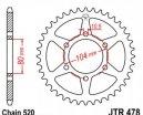 478.43, Звезда задняя (ведомая) jtr478 для мотоцикла стальная