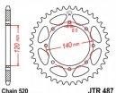 487.43, Звезда задняя (ведомая) jtr487 для мотоцикла стальная