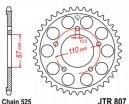 807.42, Звезда задняя (ведомая) JTR807 для мотоцикла стальная