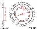 823.39, Звезда задняя (ведомая) JTR823 для мотоцикла стальная