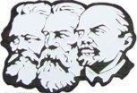 pm0045, Значок Маркс-Энгельс-Ленин