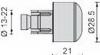 MA502A, Балансиры руля rizoma 21мм алюминиевый, цвет металик