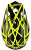 0200T-501, Шлем кроссовый 2series helmet thunderstruck черно-желтый неоновый, размер XS