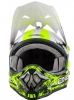 0623S, Кроссовый шлем 3Series SHOCKER чёрно-желтый неон, размер M