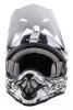 0623S-802, Кроссовый шлем 3series shocker чёрно-белый, размер S