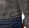 M08508 (Серый, S), Кожаная куртка Defender