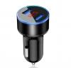 Вольтметр в прикуриватель + 2 USB зарядка