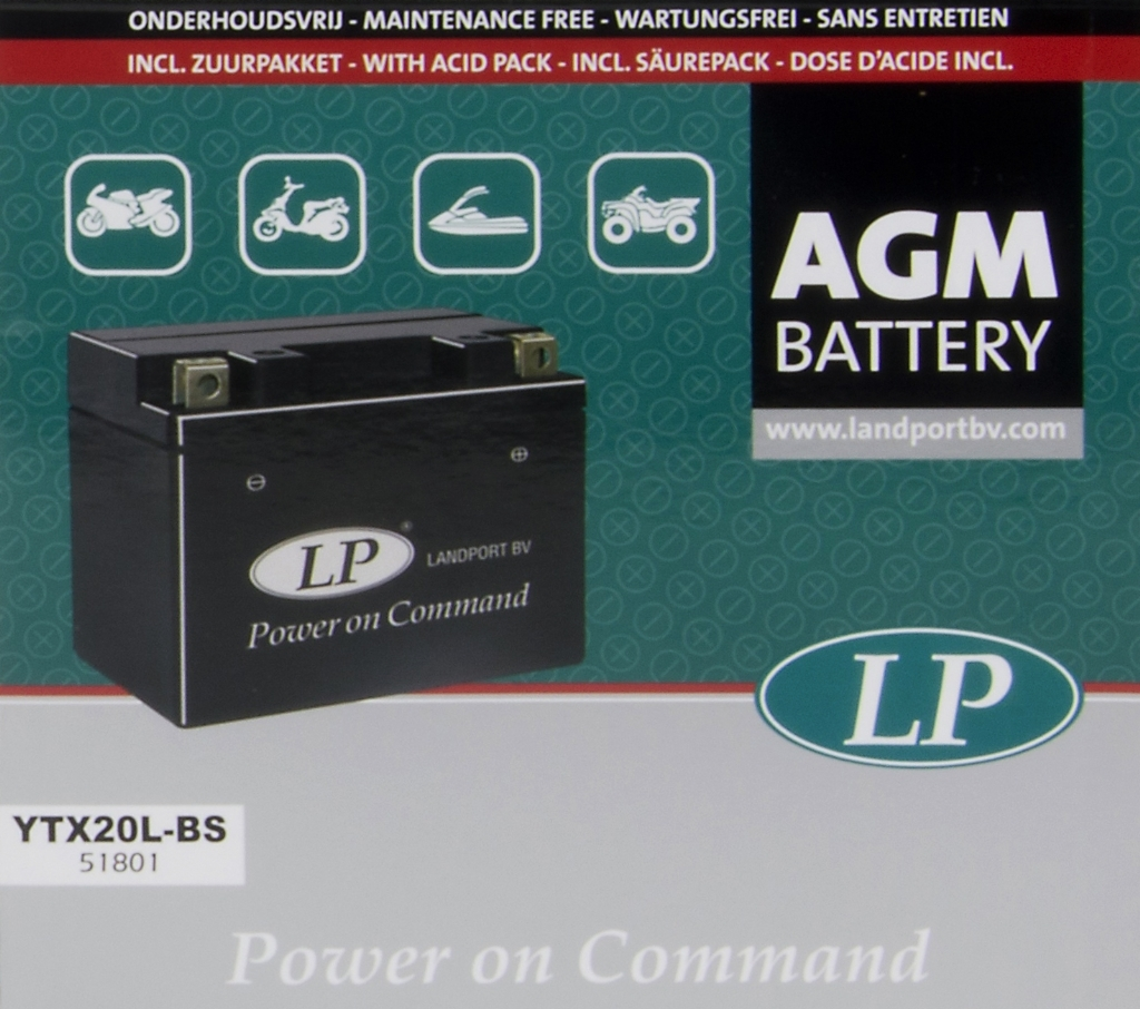 Картинки позапросу Аккумулятор AGM YTX20L-BS